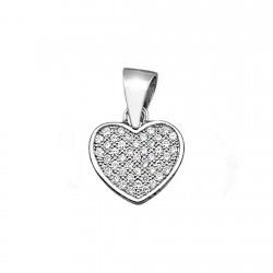 Colgante plata Ley 925m corazón multipiedra circonitas [8348]