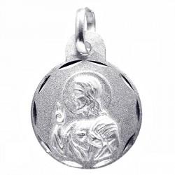 Medalla plata Ley 925m escapulario 15mm. Virgen del Carmen [8236]