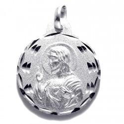 Medalla plata Ley 925m escapulario 19mm. Virgen del Carmen [8238]
