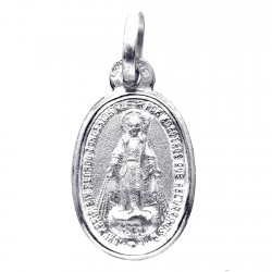 Medalla plata Ley 925m 18mm. Virgen Milagrosa ovalada [8242]