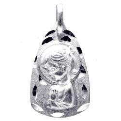 Medalla plata Ley 925m Virgen Niña 22mm. forma [8245]