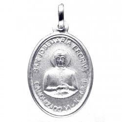 Medalla plata Ley 925m San Josemaría Escrivá doble cara