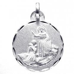 Medalla plata Ley 925m Bendición de San Francisco de Asís [8250]