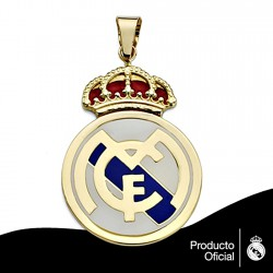 Colgante escudo Real Madrid oro de ley 18k 36mm. esmalte [8473]