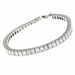 Pulsera platino 60 diamantes brillantes 9ct. [8745]