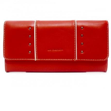 Monedero mujer piel rojo [3702]
