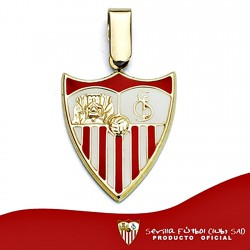 Colgante escudo Sevilla FC oro de ley 9k 20mm. esmalte [8687]