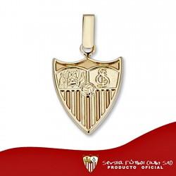 Colgante escudo Sevilla FC oro de ley 9k 16mm. liso [8690]