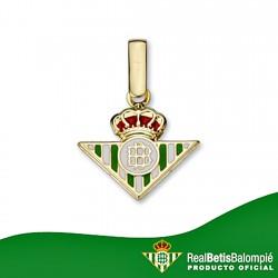 Colgante escudo Real Betis oro de ley 9k 12mm. esmalte [8707]