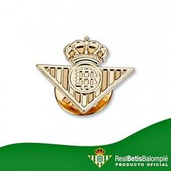 Pin escudo Real Betis oro de ley 9k 21mm. liso [8709]