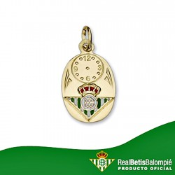 Colgante medalla escudo Real Betis oro de ley 9k bebé 15mm. [8715]