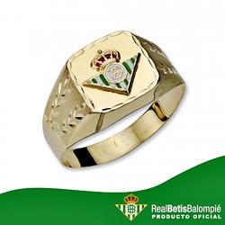 Sello escudo Real Betis oro de ley 9k caballero hueco labrado [8718]