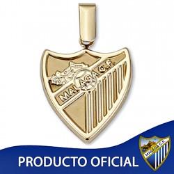 Colgante escudo Málaga CF oro de ley 9k 19mm. liso [8722]