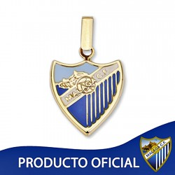 Colgante escudo Málaga CF oro de ley 9k 16mm. esmalte [8724]