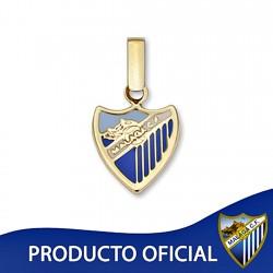 Colgante escudo Málaga CF oro de ley 9k 12mm. esmalte [8726]