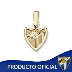 Colgante escudo Málaga CF oro de ley 9k 12mm. liso [8725]