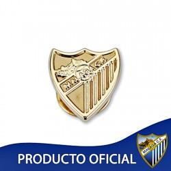 Pin escudo Málaga CF oro de ley 9k 16mm. liso [8727]