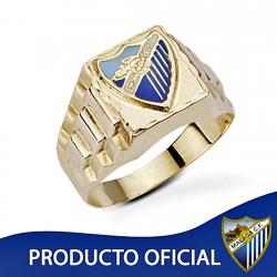 Sello escudo Málaga CF oro de ley 9k role-x caballero hueco [8736]