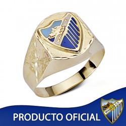 Sello escudo Málaga CF oro de ley 9k caballero hueco [8739]
