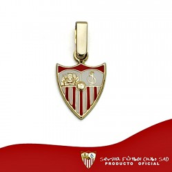 Colgante escudo Sevilla FC oro de ley 18k 12mm. esmalte [8537]