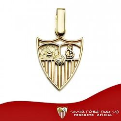 Colgante escudo Sevilla FC oro de ley 18k calado 15mm. [8545]