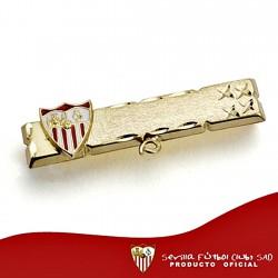 Alfiler escudo Sevilla FC oro de ley 18k bebé esmalte [8549]