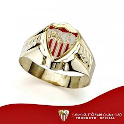 Sello escudo Sevilla FC oro de ley 18k cadete tallado hueco [8554]