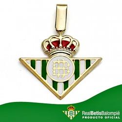 Colgante escudo Real Betis oro de ley 18k 20mm. esmalte [8597]