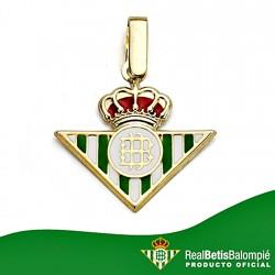 Colgante escudo Real Betis oro de ley 18k mediano esmalte [8598]