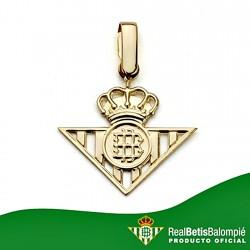 Colgante escudo Real Betis oro de ley 18k calado grande [8612]