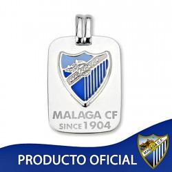 Colgante chapa escudo Málaga CF plata de ley esmalte [8651]