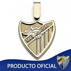 Colgante escudo Málaga CF oro de ley 18k liso grande [8652]
