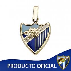 Colgante escudo Málaga CF oro de ley 18k esmalte mediano [8655]