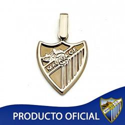 Colgante escudo Málaga CF oro de ley 18k 16mm. liso [8654]
