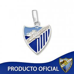 Colgante escudo Málaga CF plata de ley esmalte pequeño [8657]