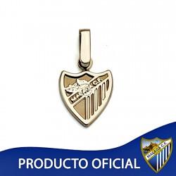 Colgante escudo Málaga CF oro de ley 18k 12mm. liso [8659]