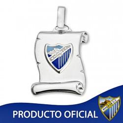 Colgante pergamino escudo Málaga CF plata de ley esmalte [8661]