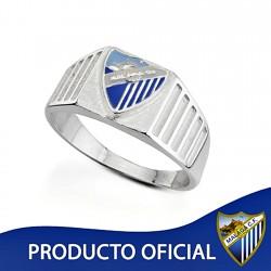 Sello escudo Málaga CF plata de ley cadete hueco [8666]