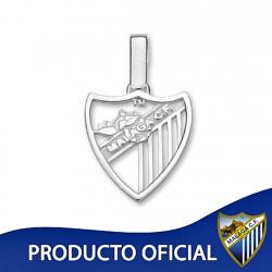 Colgante escudo Málaga CF plata de ley calado pequeño [8670]