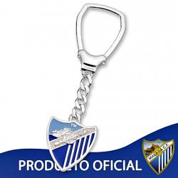 Lllavero escudo Málaga CF plata de ley esmalte grande [8671]