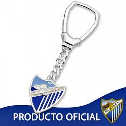 Lllavero escudo Málaga CF plata de ley esmalte pequeño [8676]