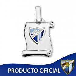Colgante pergamino escudo Málaga CF plata de ley esmalte [8678]
