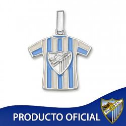 Colgante camiseta escudo Málaga CF plata de ley esmalte [8681]