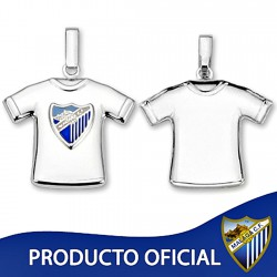 Colgante camiseta escudo Málaga CF plata de ley estampada [8682]