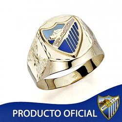 Sello escudo Málaga CF oro de ley 18k caballero hueco [8684]