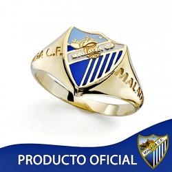 Sello escudo Málaga CF oro de ley 18k caballero silueta [8685]