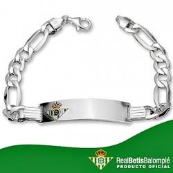 Esclava escudo Real Betis plata de ley caballero hueca [8500]