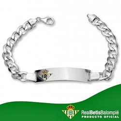Esclava escudo Real Betis plata de ley caballero hueca [8503]