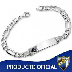 Esclava escudo Málaga CF plata de ley cadete hueca [8506]
