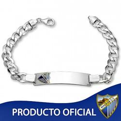 Esclava escudo Málaga CF plata de ley caballero hueca [8509]